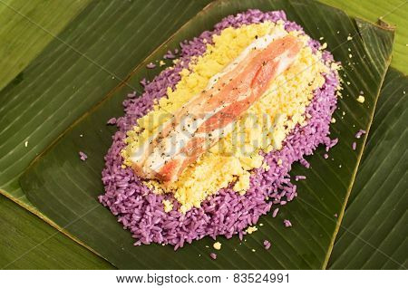 Preparation Of Vietnamese Pork Rice Cake Wrapped In Banana Leaves, Traditional Tet Meal