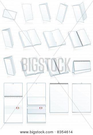 Print-press paper production. Leaflets, booklets, calendars