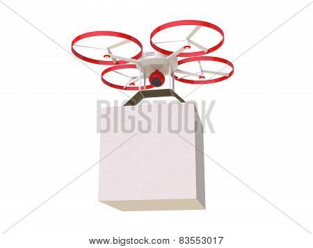 3D drone with camera electronic technology hexacopter poster