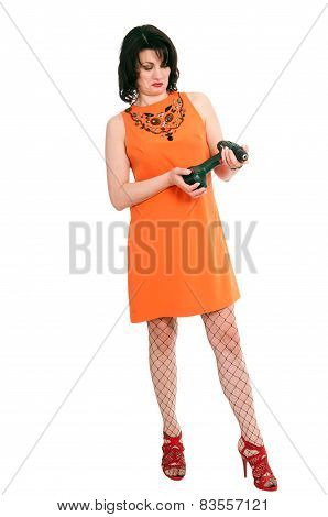Surprised Woman With Screwdriver