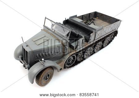 The model of gray half-track view from the top left poster