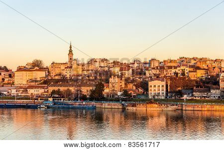 View of Belgrade from the Sava river - Serbia poster