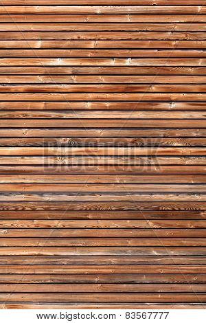 Wooden facade in vertical format