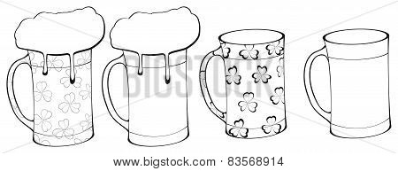 Happy Holiday - Beer Mug With Clover Decor