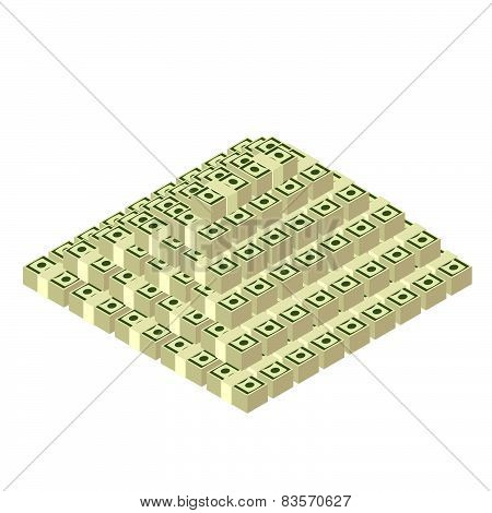 money pyramid  dollars