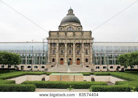 Bayerische Staatskanzlei (The Bavarian State Chancellery) in Munich, Germany.