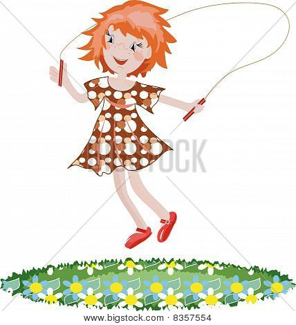 Jumping girl.