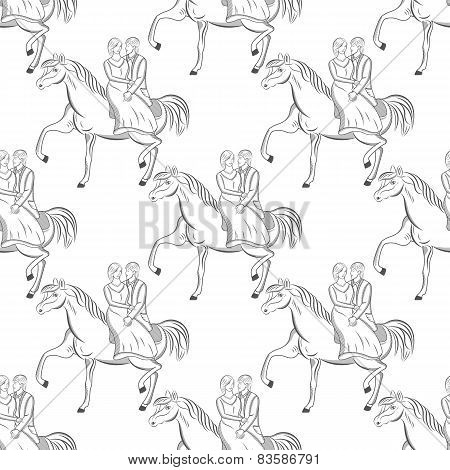 Vector seamless romantic pattern for your design