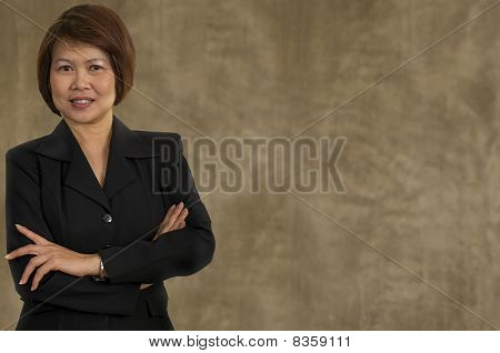 Asian Woman With Business Suit