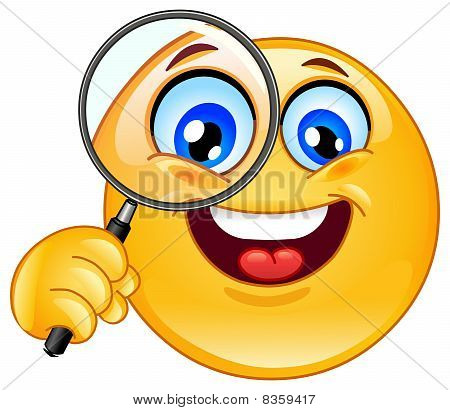 Magnifying Glass Emoticon