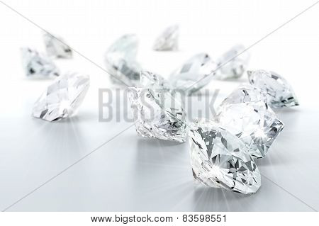 brilliant diamond jewel (high resolution 3D image) poster