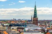 View of Copenhagen from The Round Tower poster
