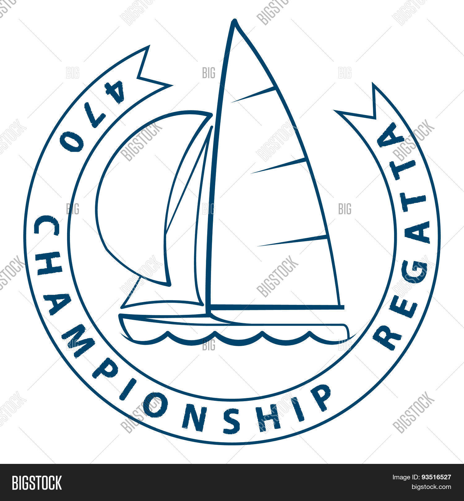 Sailing Dinghy 470 Vector Photo Free Trial Bigstock