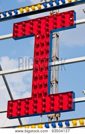I Capital Letter Circus Neon Sign