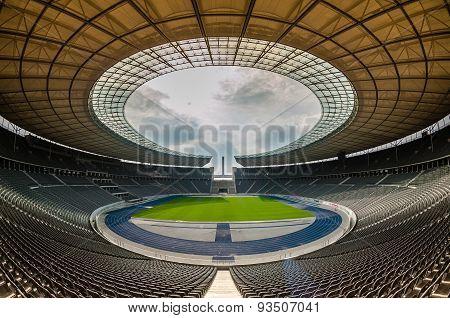 View Of An Empty Berlin's Stadium, Berlin.