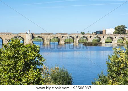 Palms Bridge (puente De Palmas, Badajoz), Spain