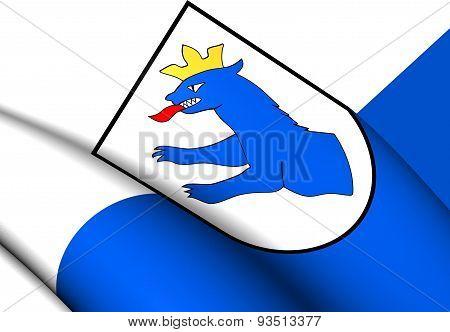 Flag Of Gnas, Austria.