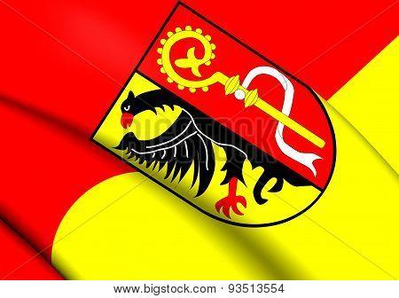 Flag Of Biberach, Germany.