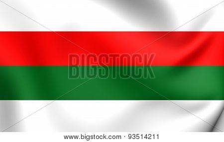 Flag Of The Pila, Poland.