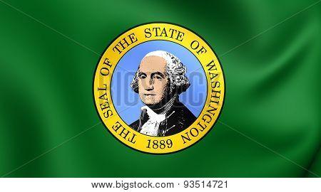 Flag Of The Washington State, Usa.
