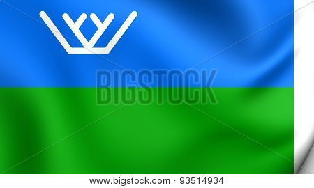 Flag Of The Khanty-mansi Autonomous Okrug, Russia.