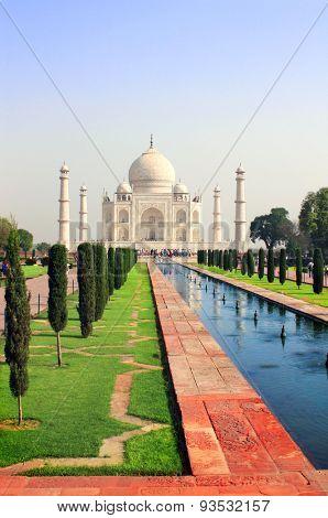 Taj Mahal mausoleum in Agra, India poster