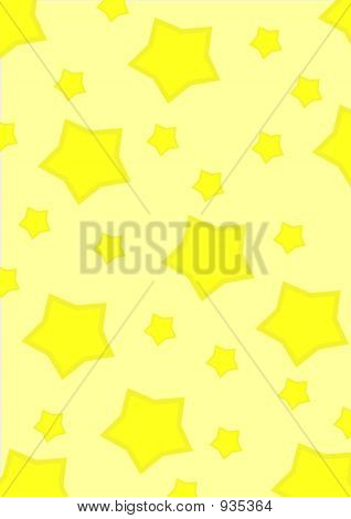 Simple Yellow Star Background
