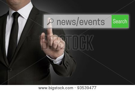 News Events Internet Browser Is Operated By Businessman