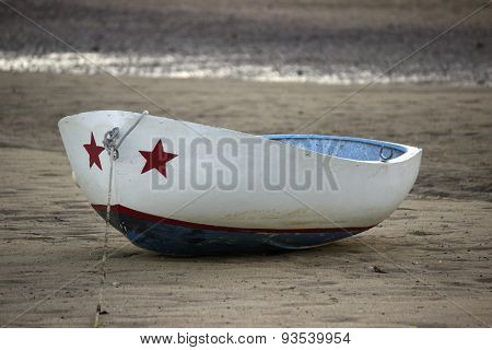 Red White and Blue Boat