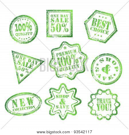 One Day Sale stamp Green