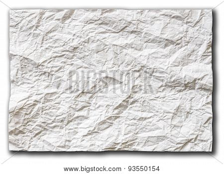 White Textured Sheet Of Paper