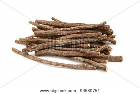 Large Pile Of Liquorice Root Sticks