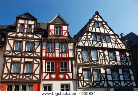 Typical German Half-Timbered Houses