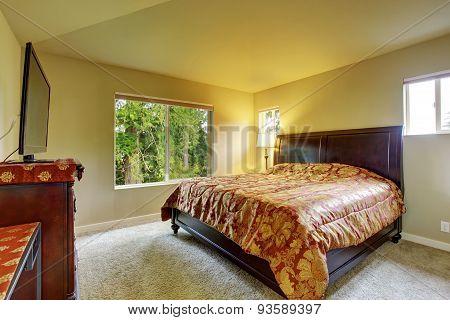Master Bedroom With Carpet.