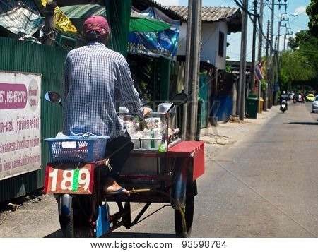 Food Vendor On Tricycle