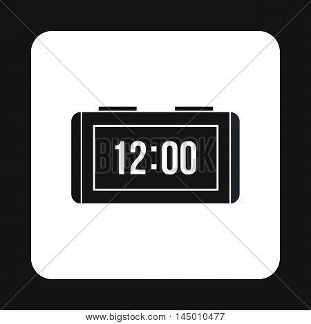 Electronic watch icon in simple style isolated on white background. Time symbol