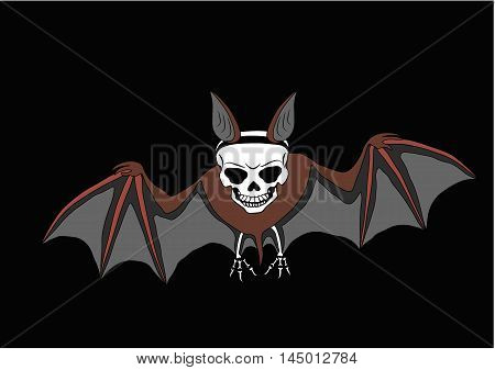 illustrations, celebrations, animals, halloween, bat, spooky, skull, human, vector, horror, holiday, color, symbols, art, bones, night, design, cultures, dark, holidays, black, october, autumn, skeleton, backgrounds, event, objects, dead, shape, body, sty