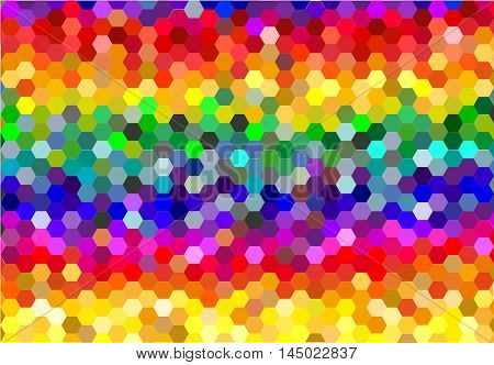 Colorful geometric background. Colorful glowing background with geometric figures.