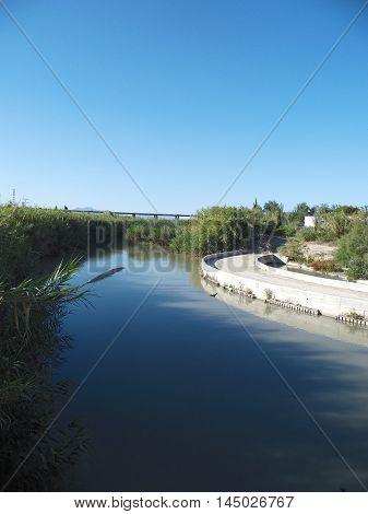 Río Segura a su paso por la Contraparada