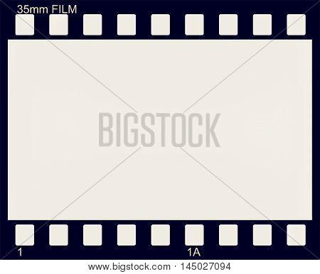 illustration of vintage photographic 35 mm film sheet vintage