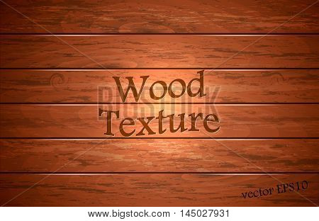 Wood plank background vector illustration. Wood texture