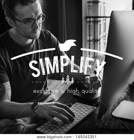 Simplify Clarity Minimal Simple Understandable Concept poster