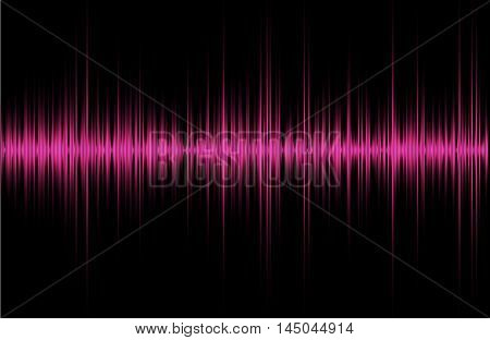 Pink violet red music sound waves for equalizer, vector illustration of musical pulse
