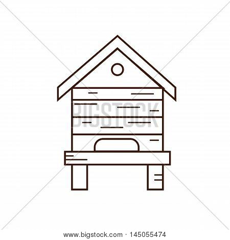 Honey Bee Beehive Illustration Vector Symbol House