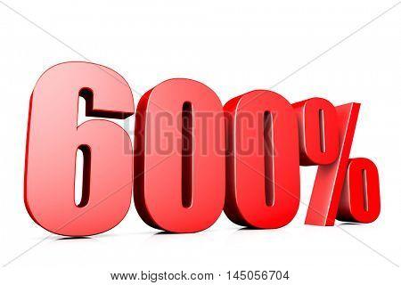 3d illustration sign of 600