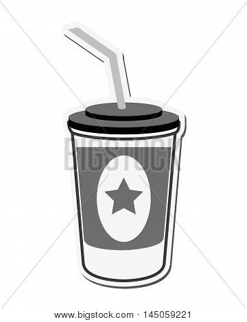 soda coke star cinema movie film entertainment icon. Flat and isolated design. Vector illustration