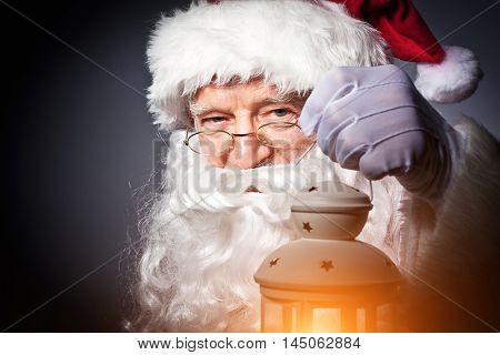 santa claus portrait with light