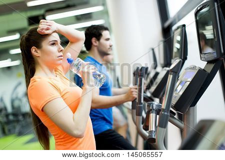 Young People In The Gym
