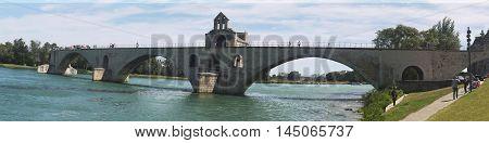 Avignon Pont St.benezet Province Bridge Panorama.