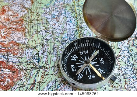 No orientation no travel. The tools of orienteering - map and a magnetic compass.